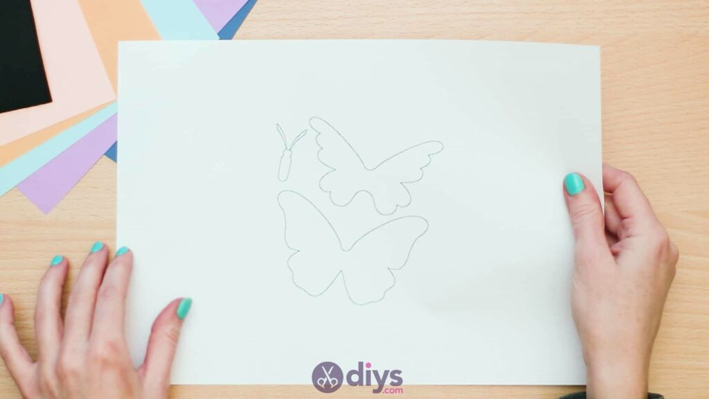 3d paper butterfly card step 2