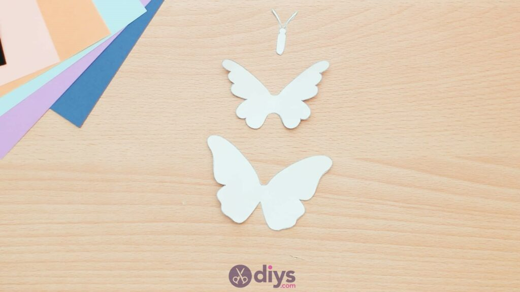 3d paper butterfly card step 2a