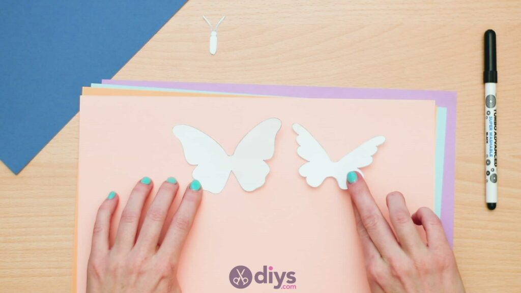 3d paper butterfly card step 3