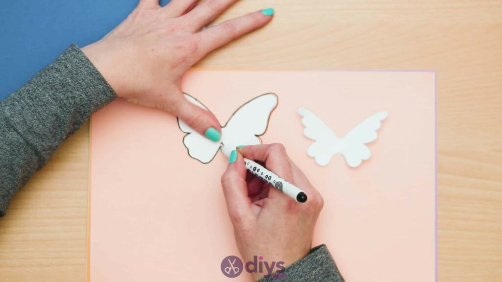 3d paper butterfly card step 3b