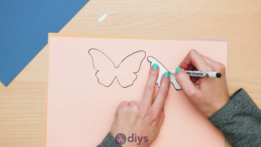 3d paper butterfly card step 3d