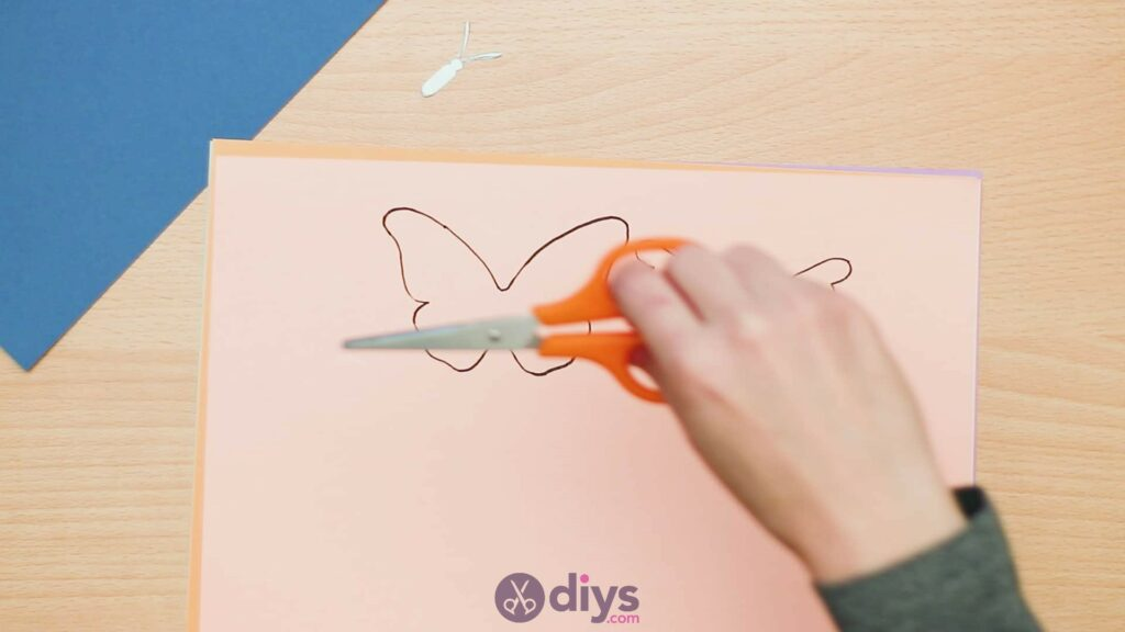 3d paper butterfly card step 3e