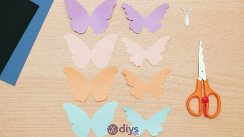 3d paper butterfly card step 3f