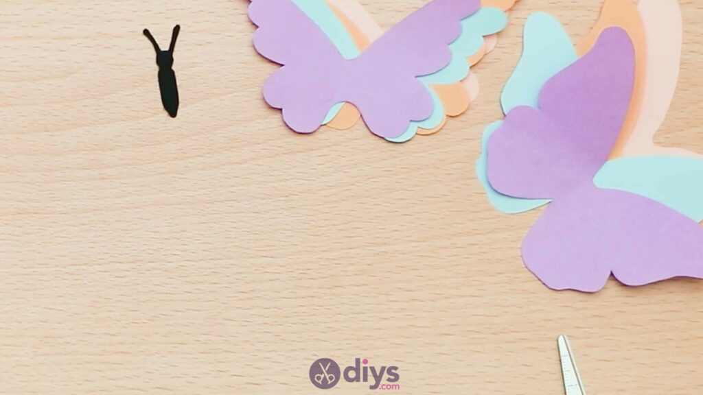 3d paper butterfly card step 4c
