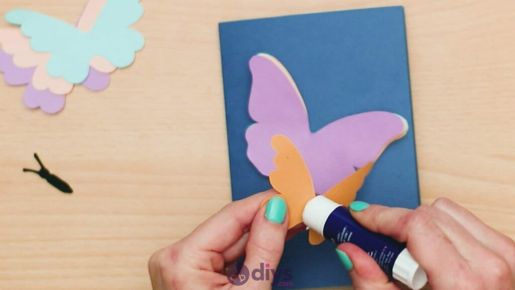 3d paper butterfly card step 7