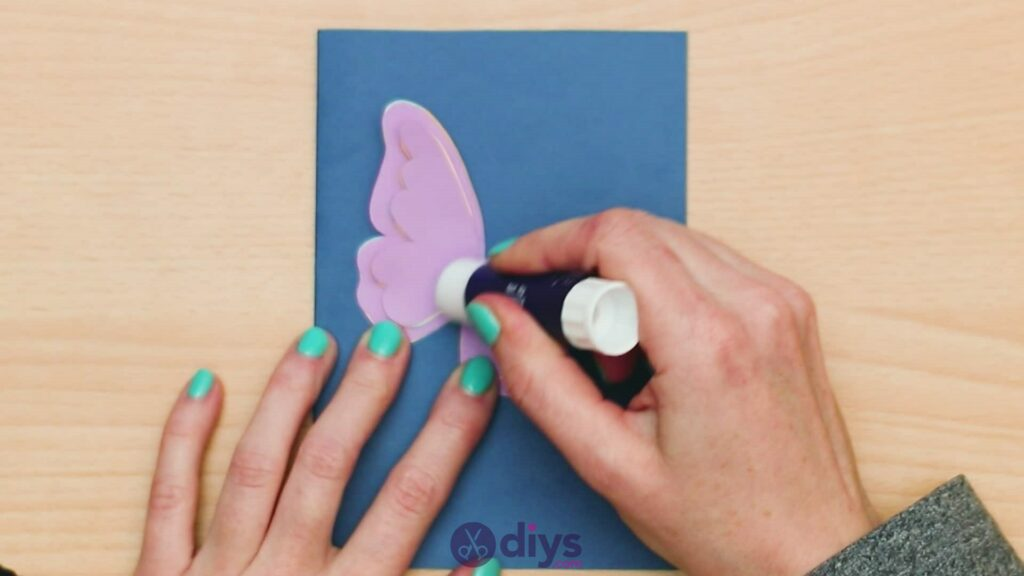 3d paper butterfly card step 8