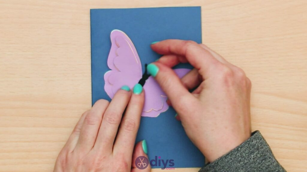 3d paper butterfly card step 8a