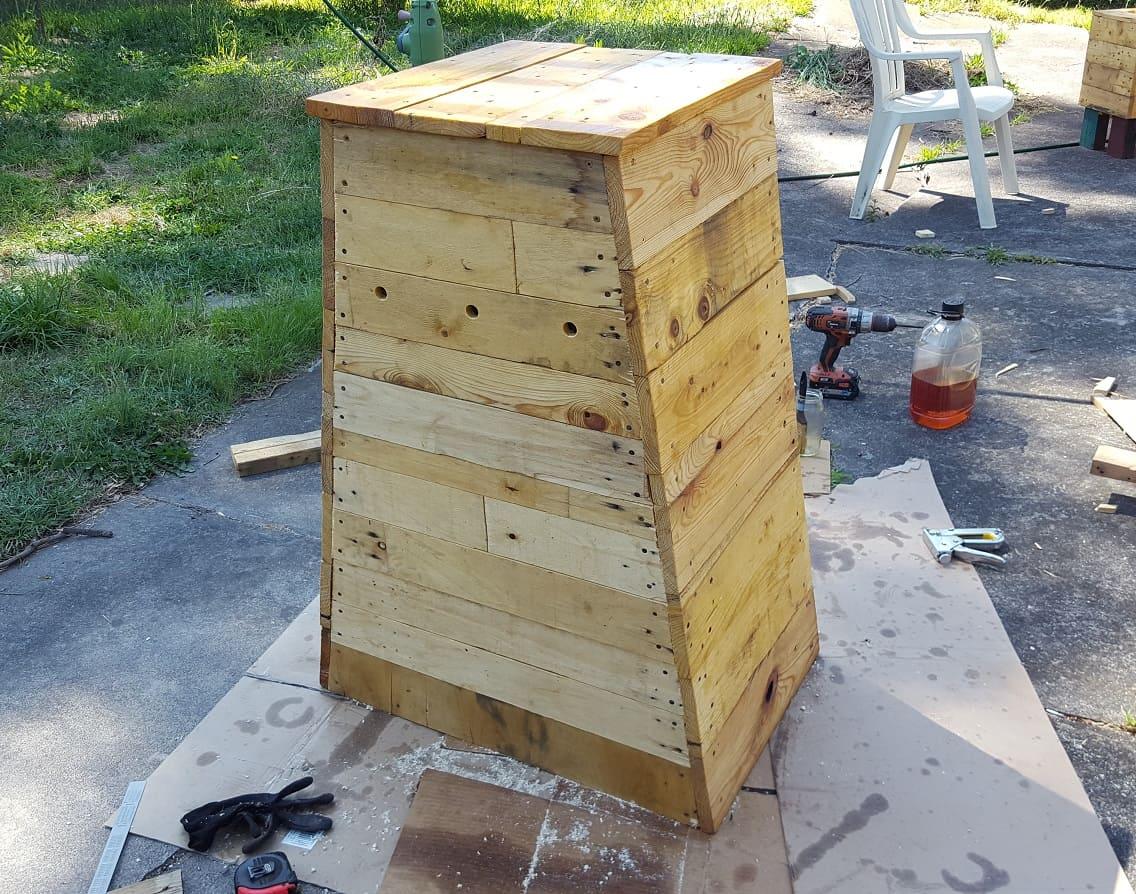 $8 angled compost bin