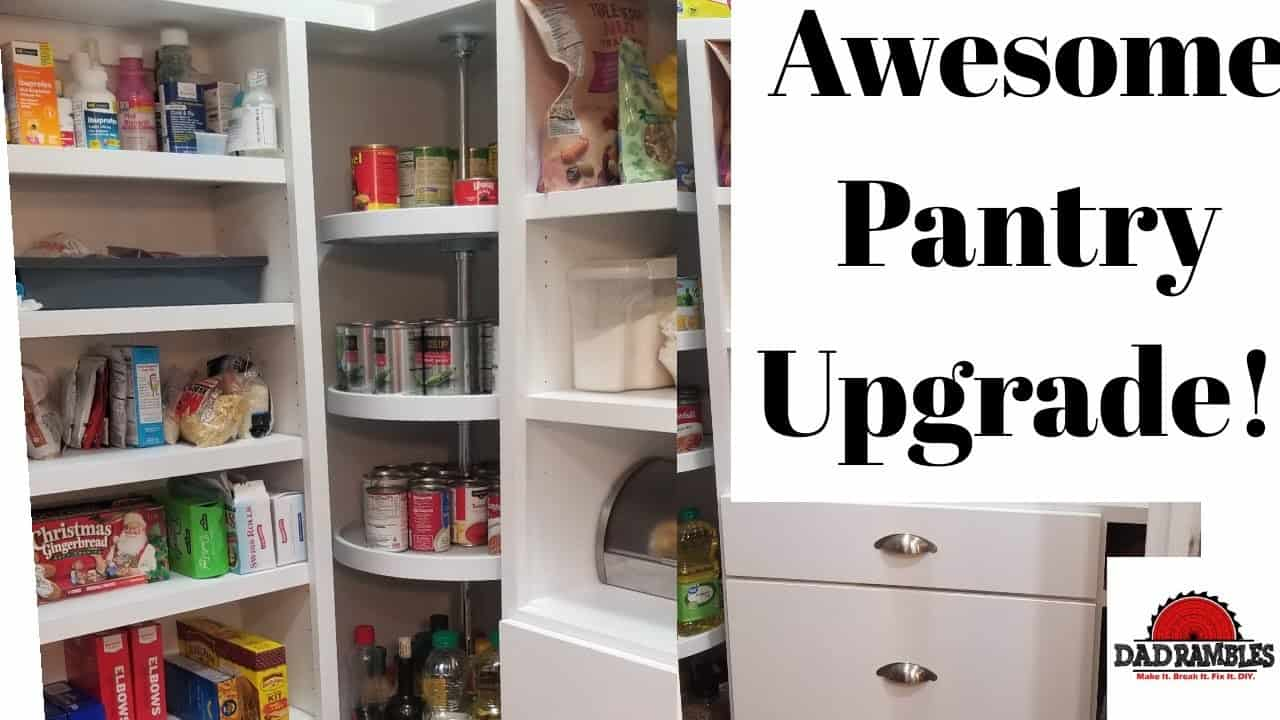Awesome pantry upgrade in a kitchen remodel