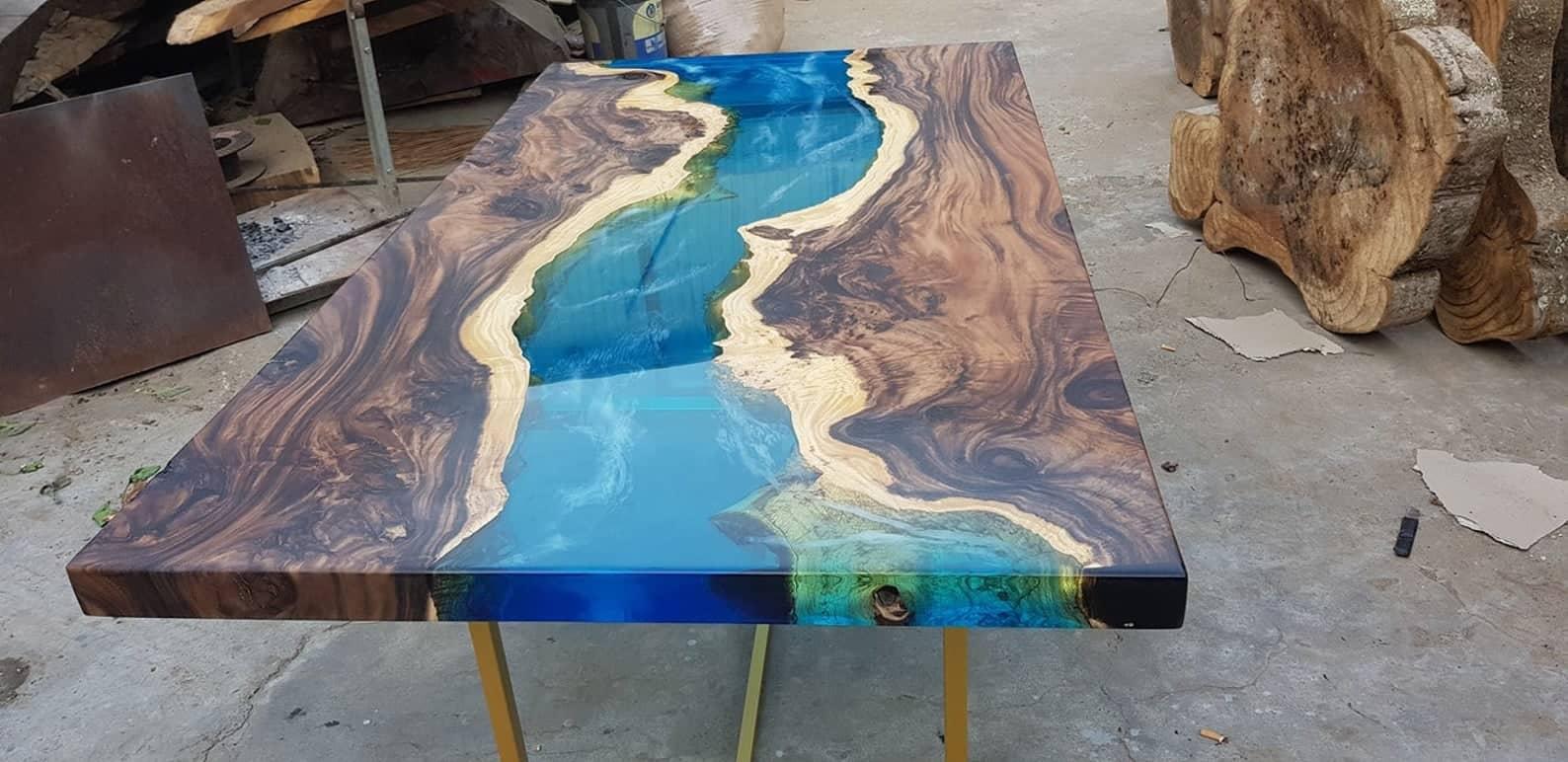 Blue river table senna siamea wood