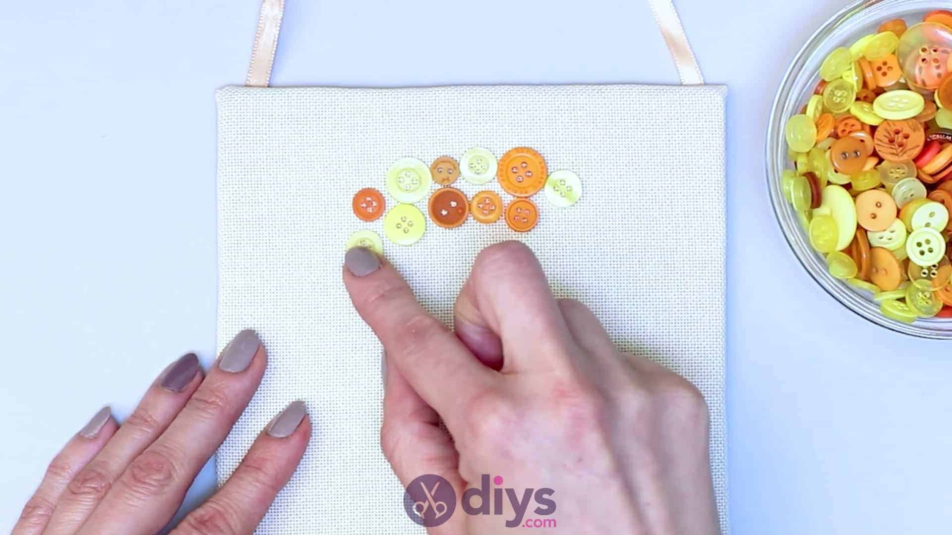 Button art wall hanging step 6c