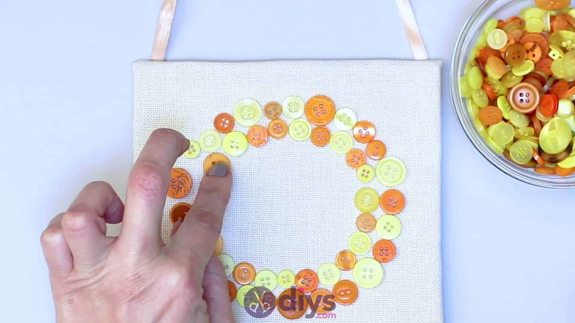 Button art wall hanging step 7c