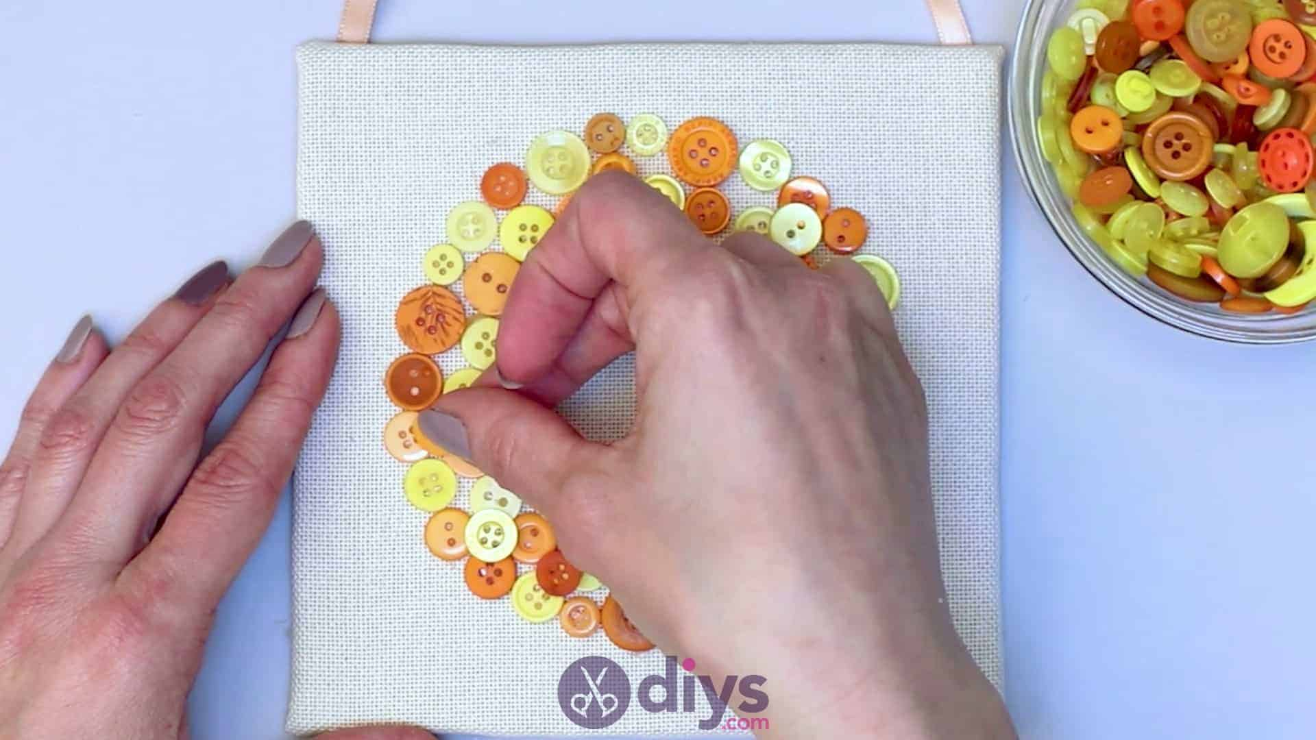 Button art wall hanging step 8d