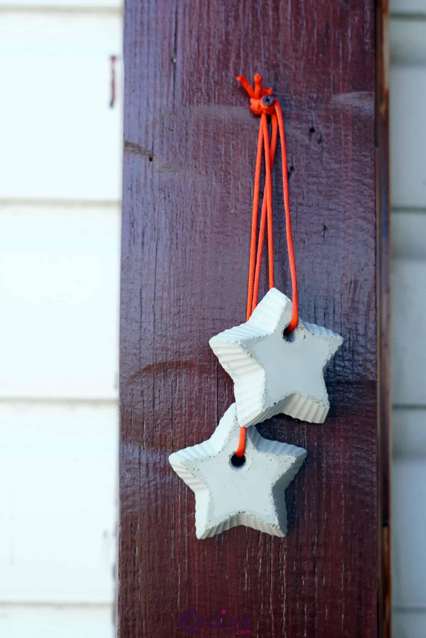 Concrete hanging star decoration hanging