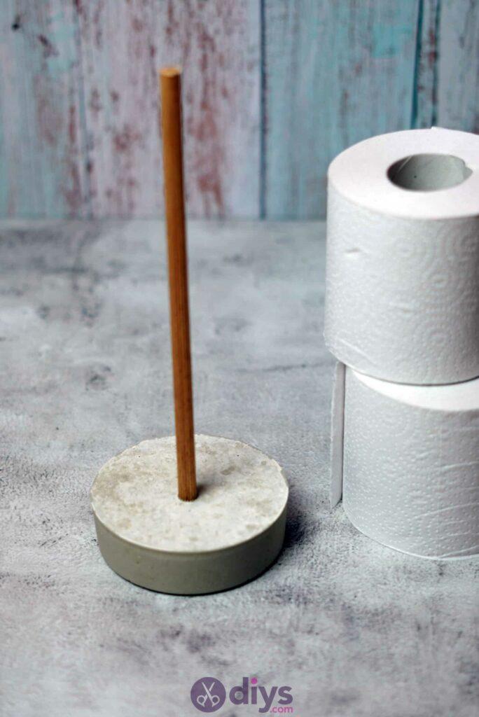 Concrete toilet paper holder simple