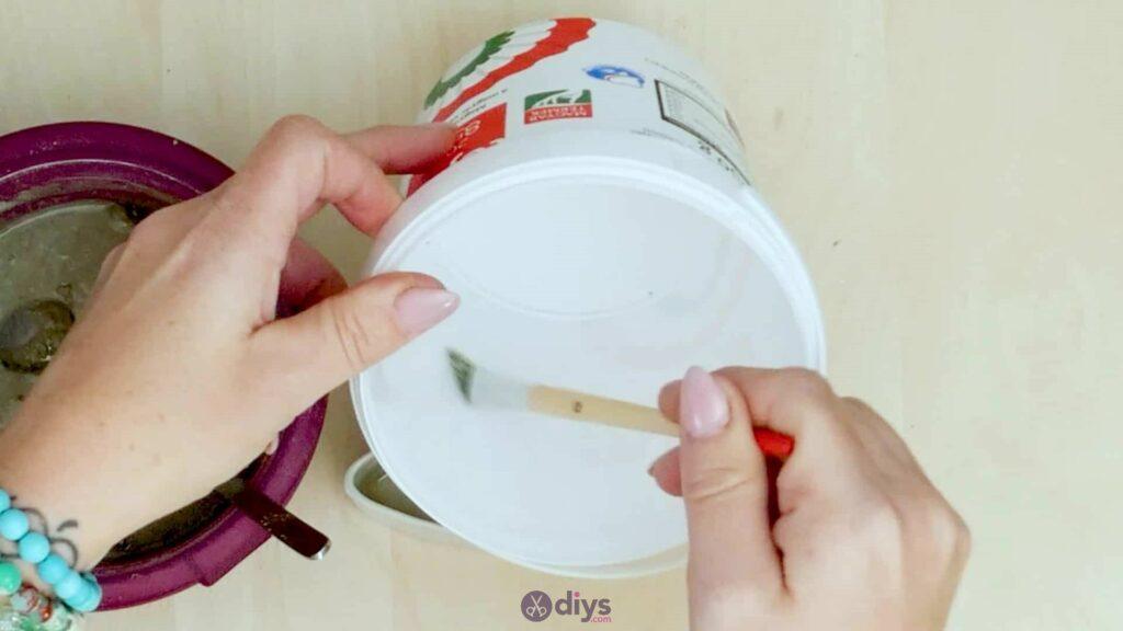 Concrete toilet paper holder step 2b