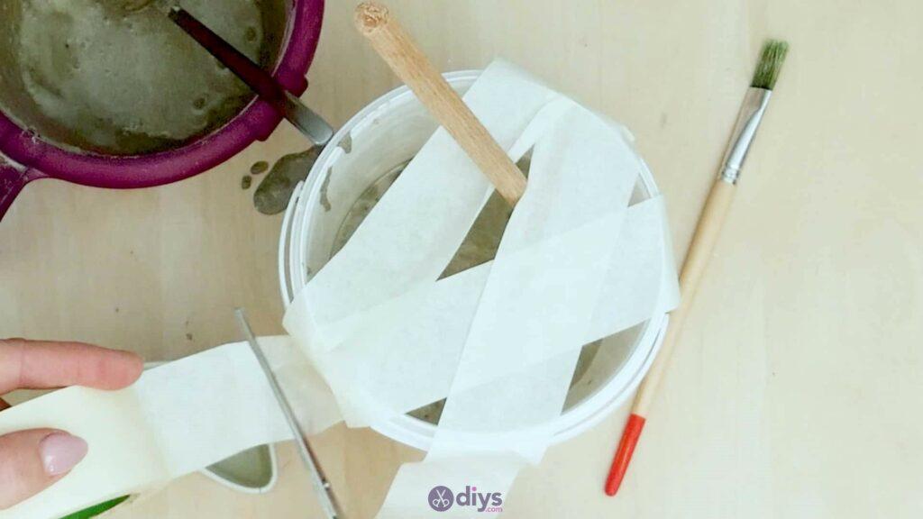 Concrete toilet paper holder step 4e