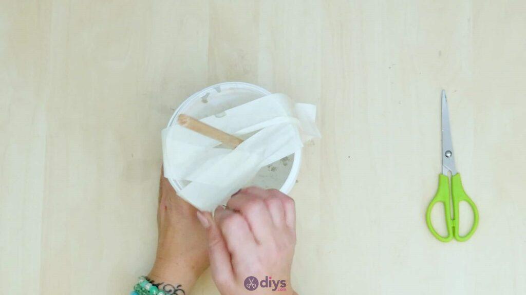 Concrete toilet paper holder step 5