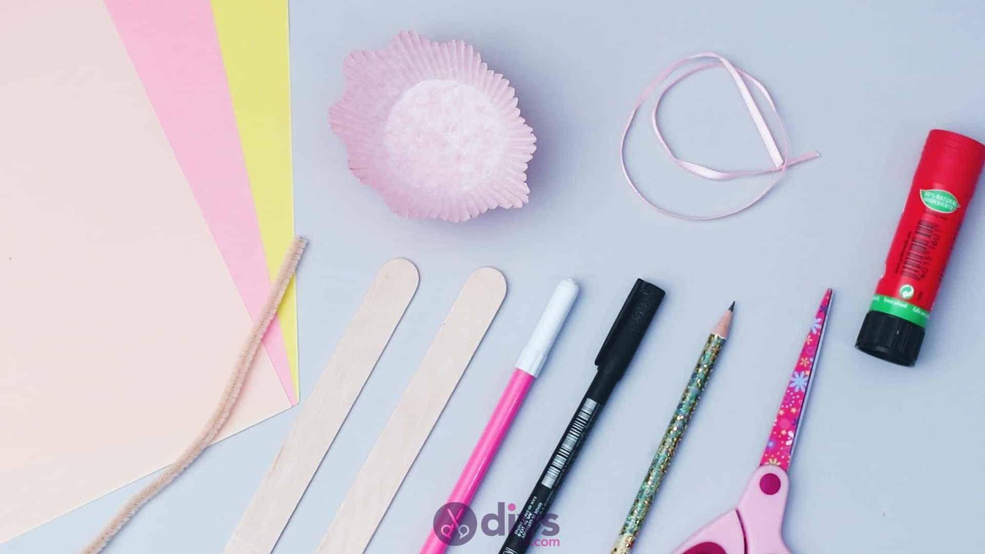 Cupcake liner ballerina materials