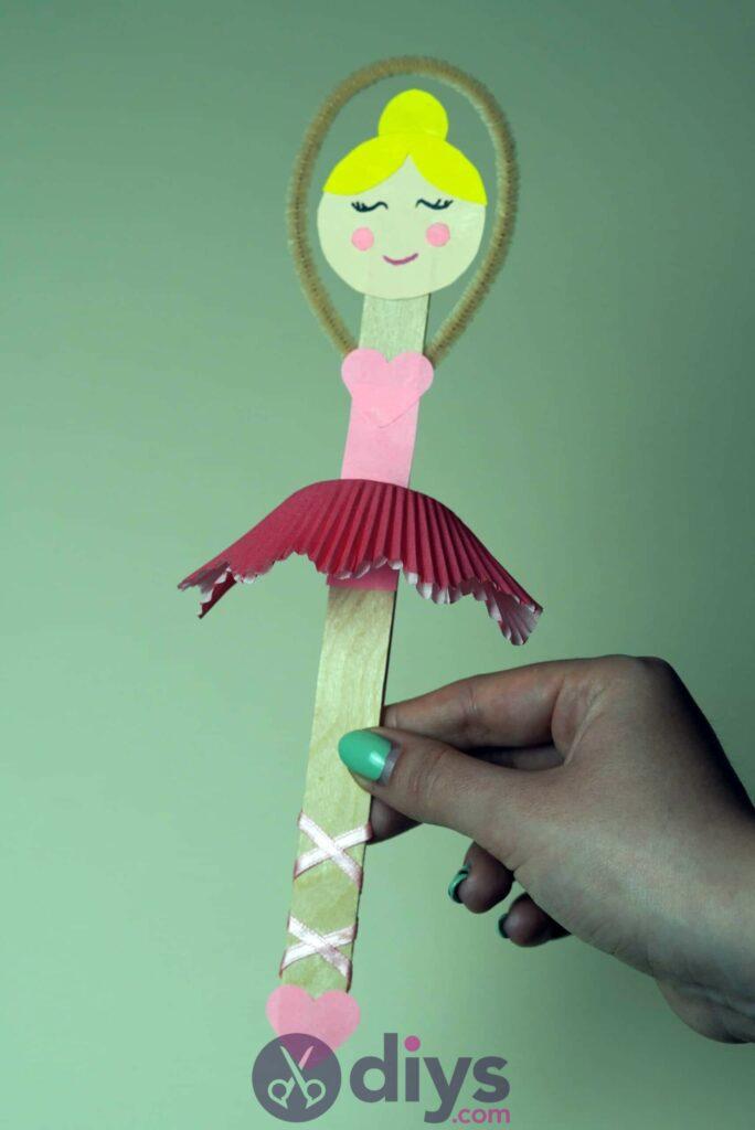 Cupcake liner ballerina step 10aae