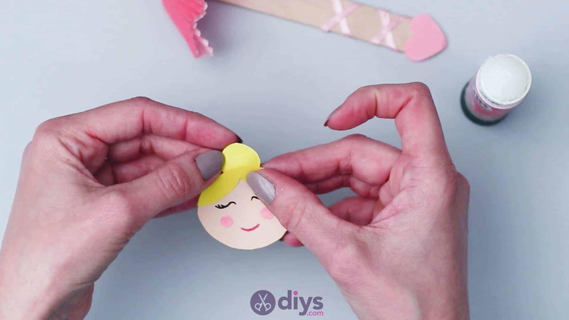 Cupcake liner ballerina step 12