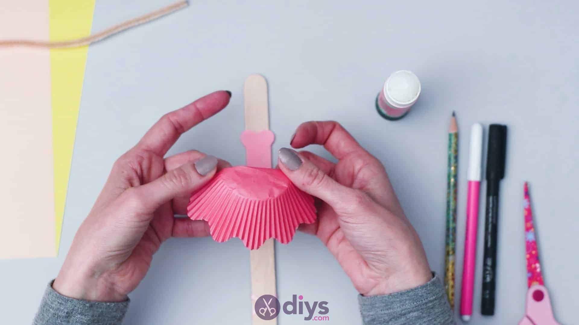 Cupcake liner ballerina step 7
