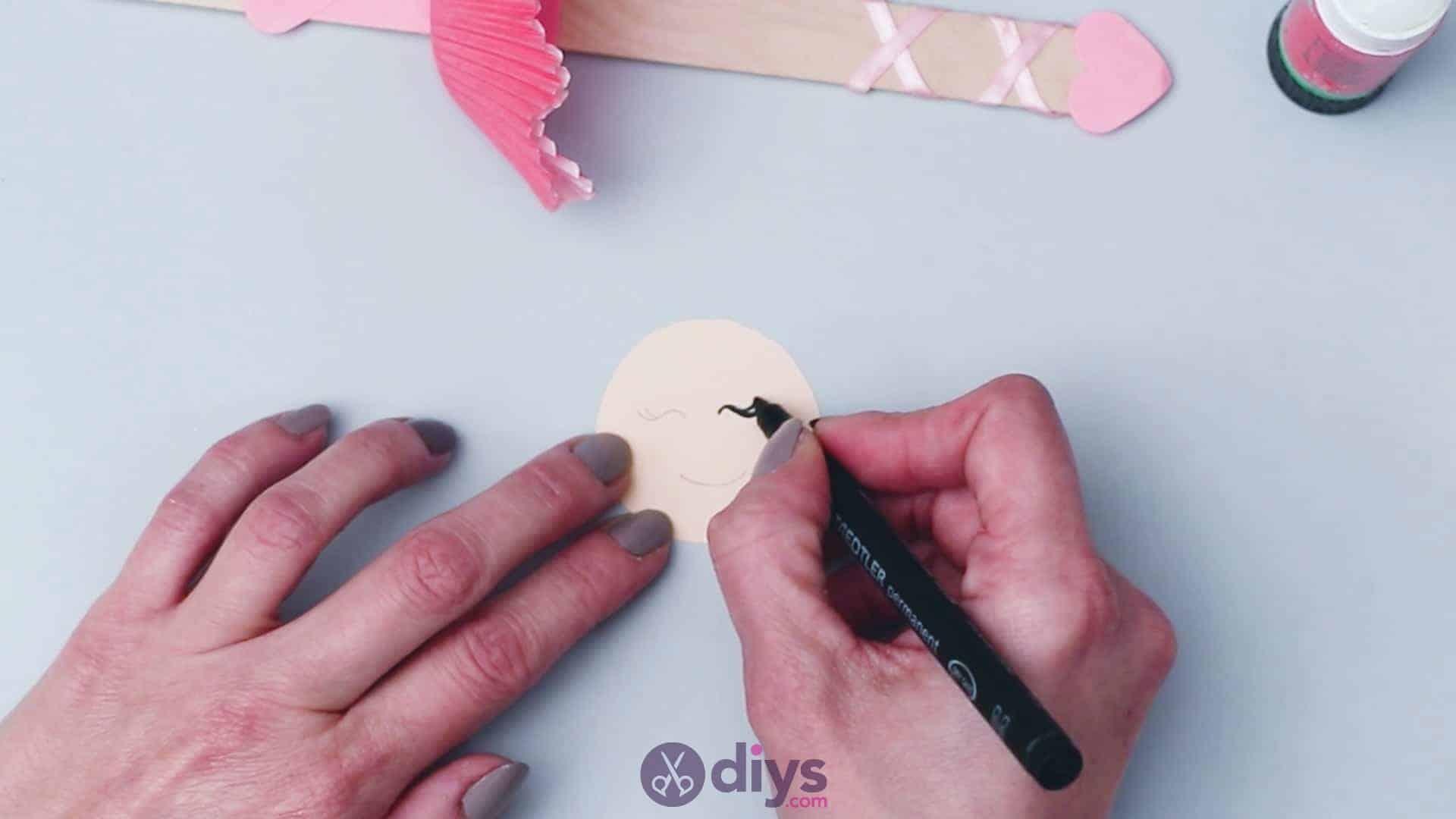 Cupcake liner ballerina step 8ar