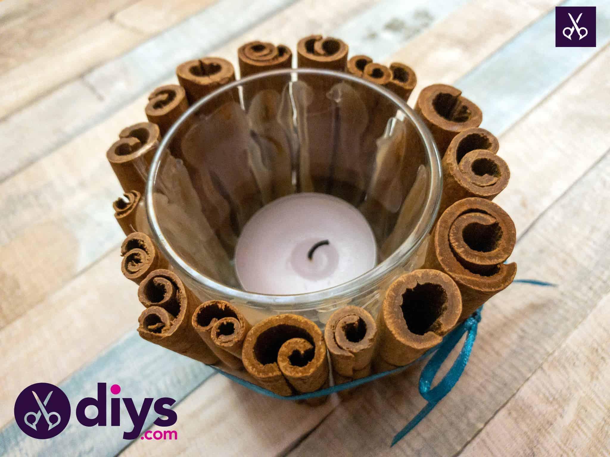 Diy cinnamon stick candle holder