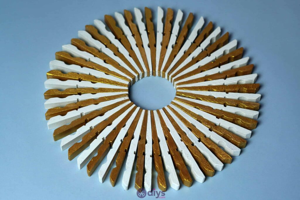 Diy clothespin art gold