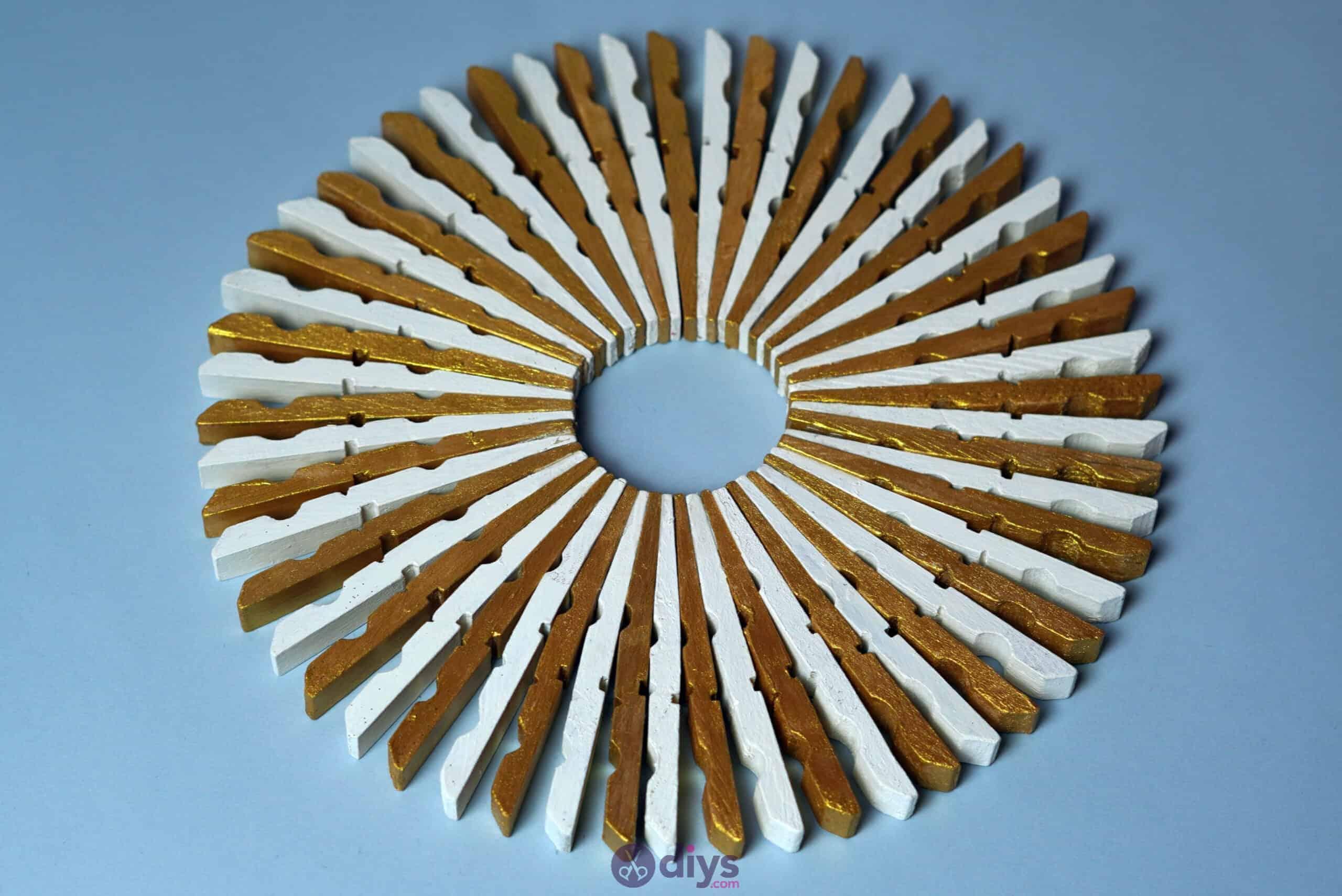 Diy clothespin art gold
