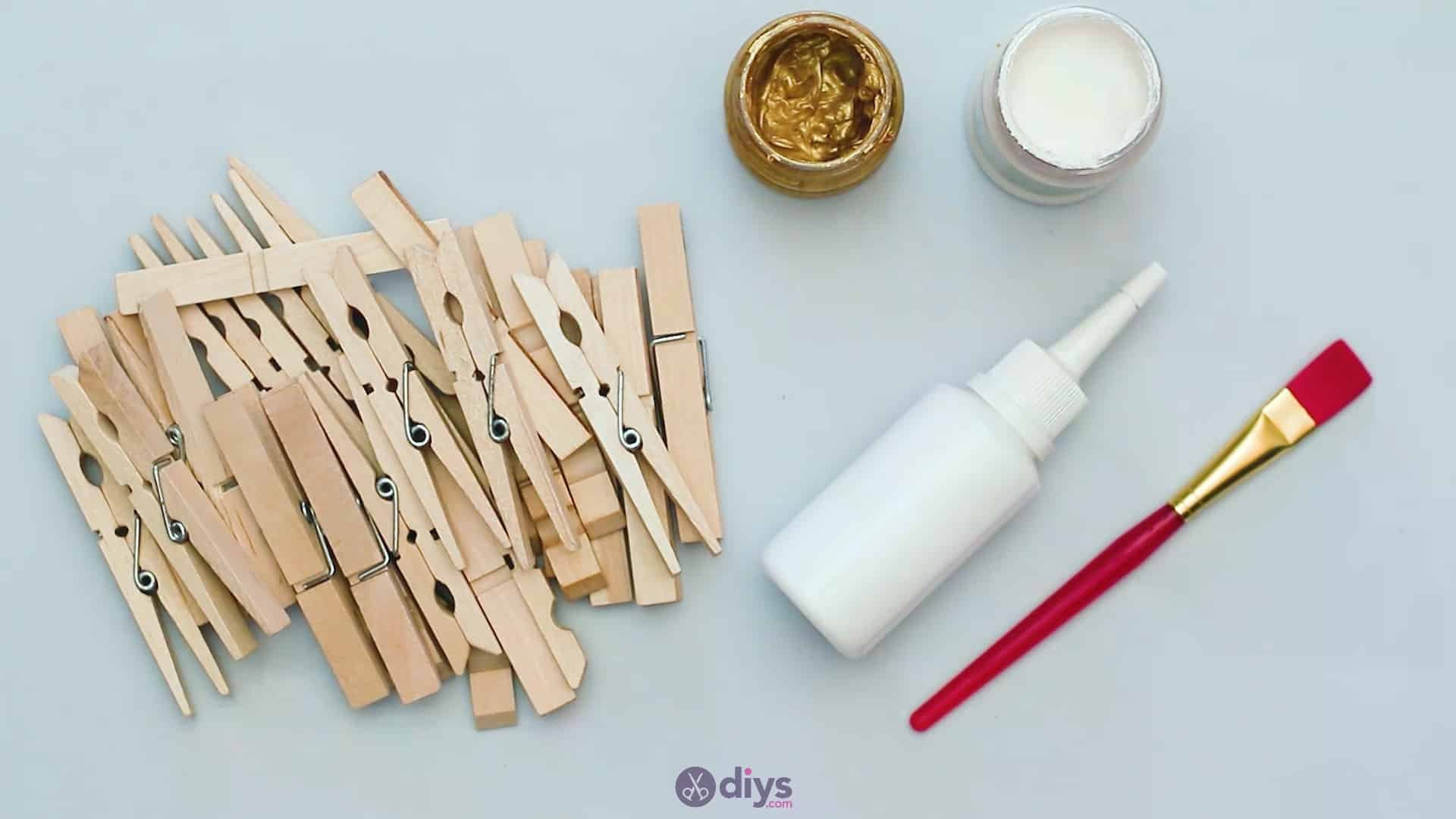 Diy clothespin art materials