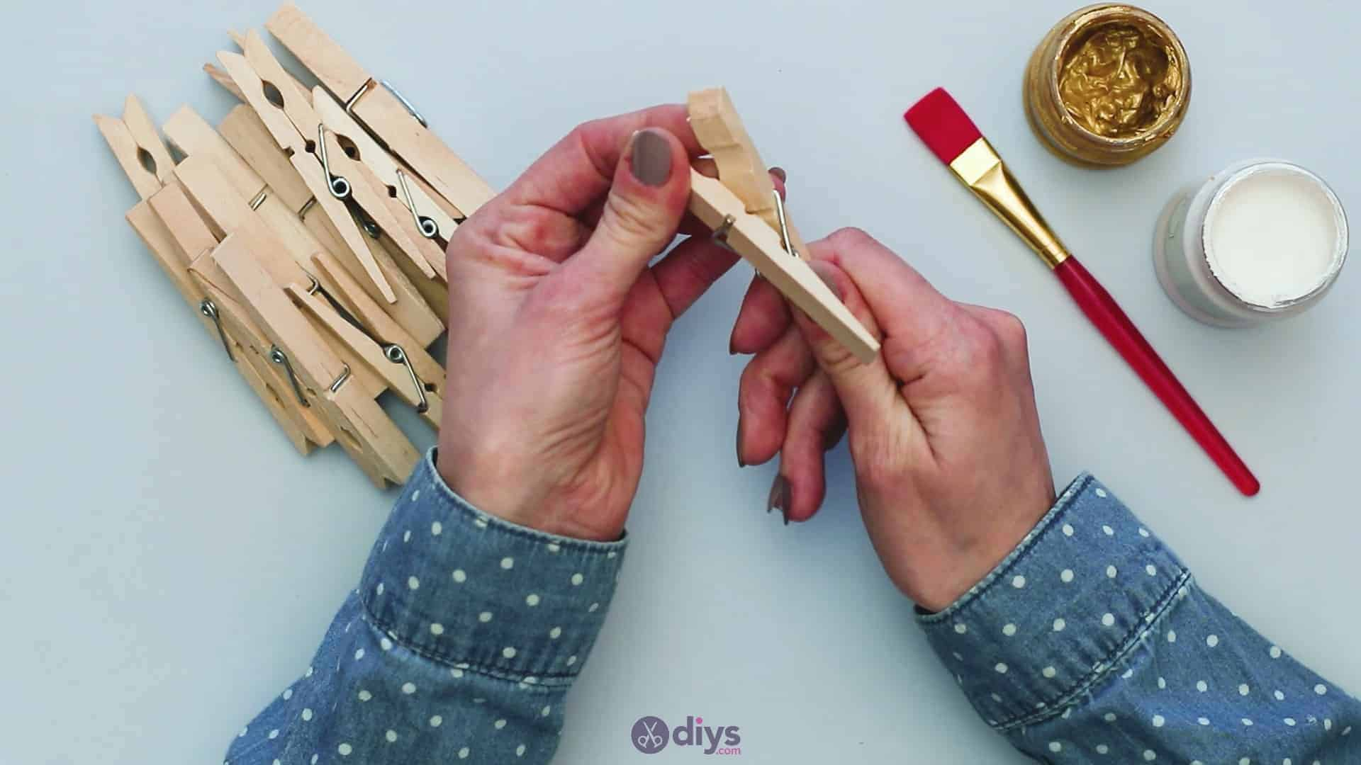 Diy clothespin art step 1