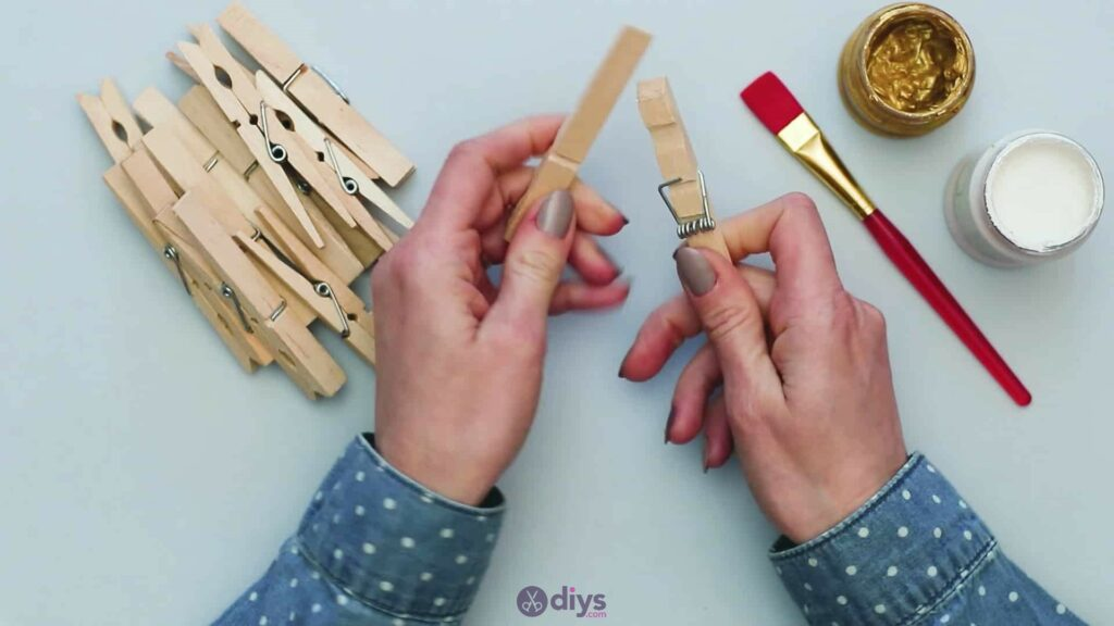 Diy clothespin art step 1a