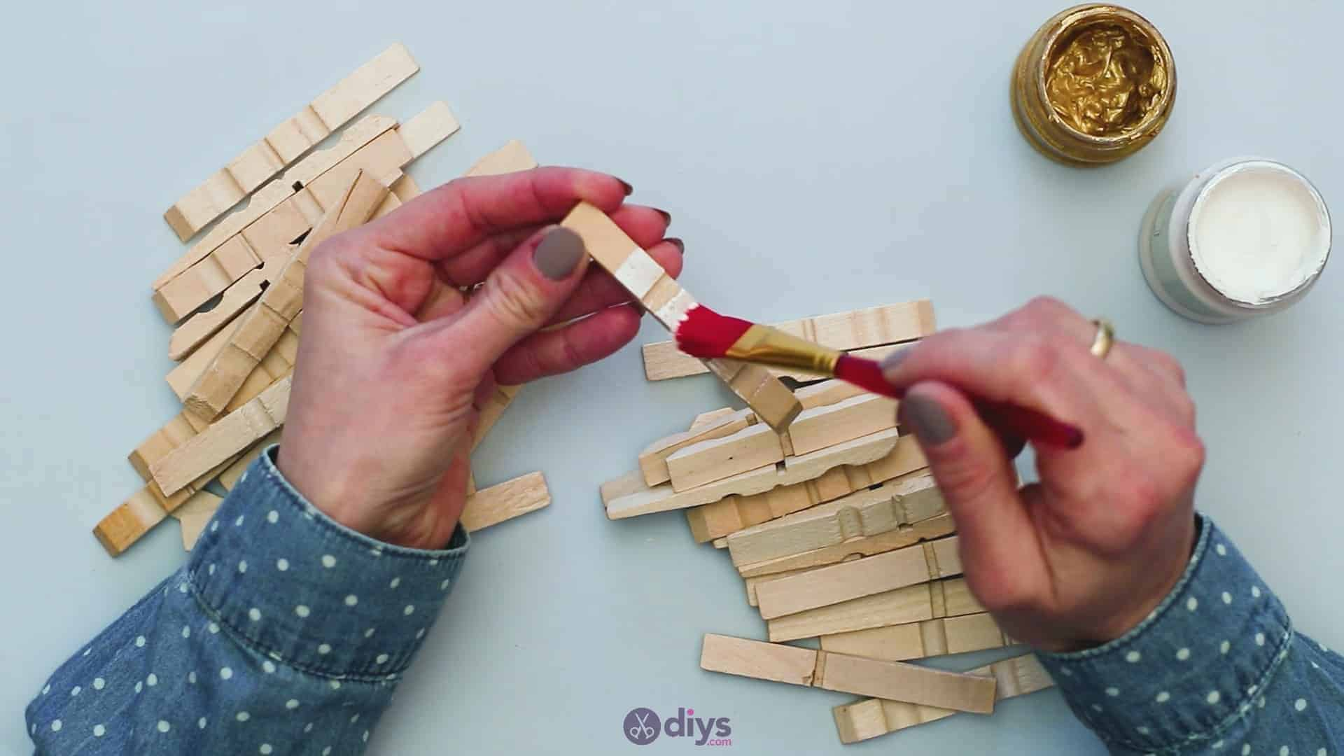 Diy clothespin art step 3a