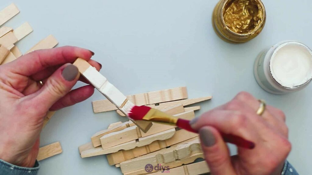 Diy clothespin art step 3b