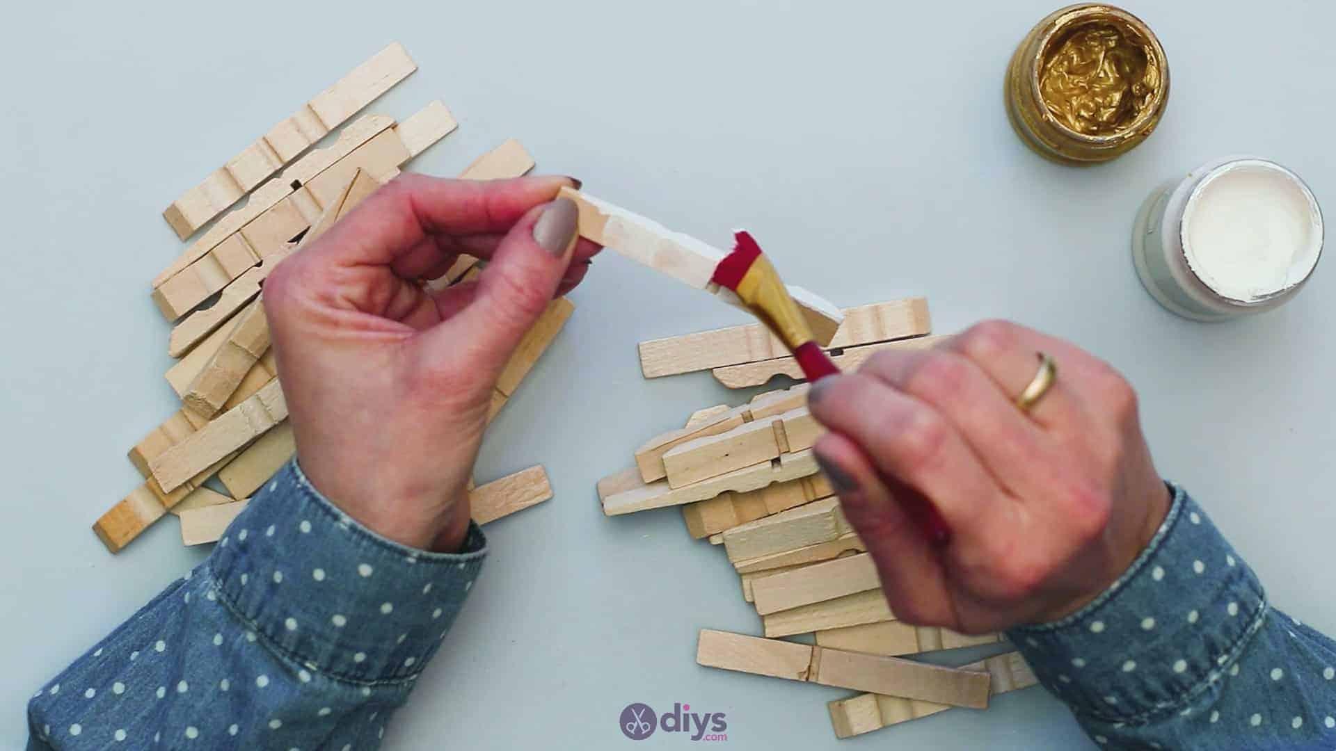 Diy clothespin art step 3c