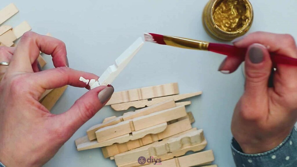 Diy clothespin art step 3d