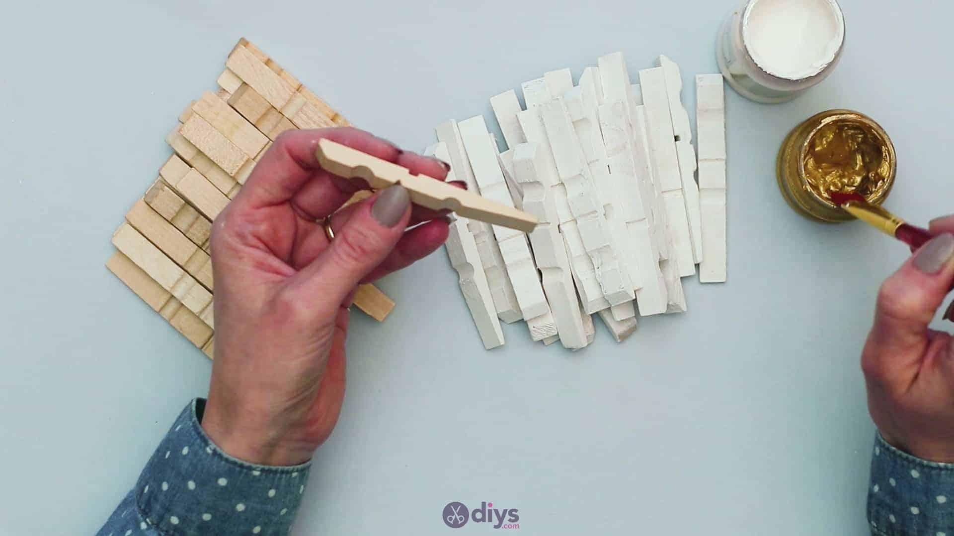 Diy clothespin art step 4