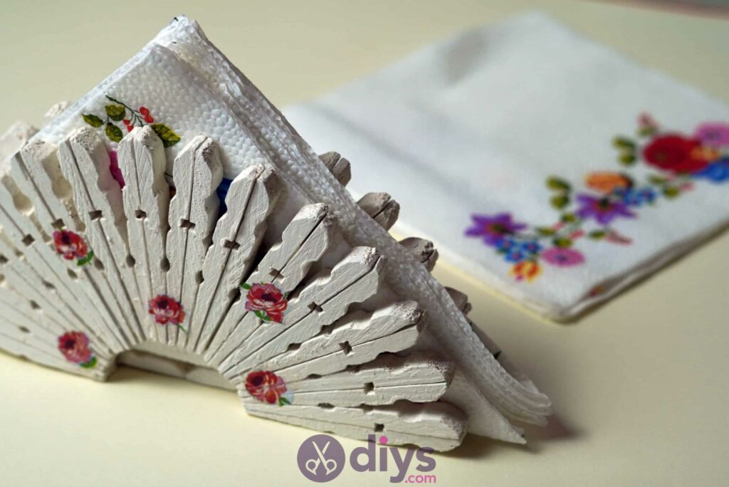 Diy Clothespin Napkin Holder