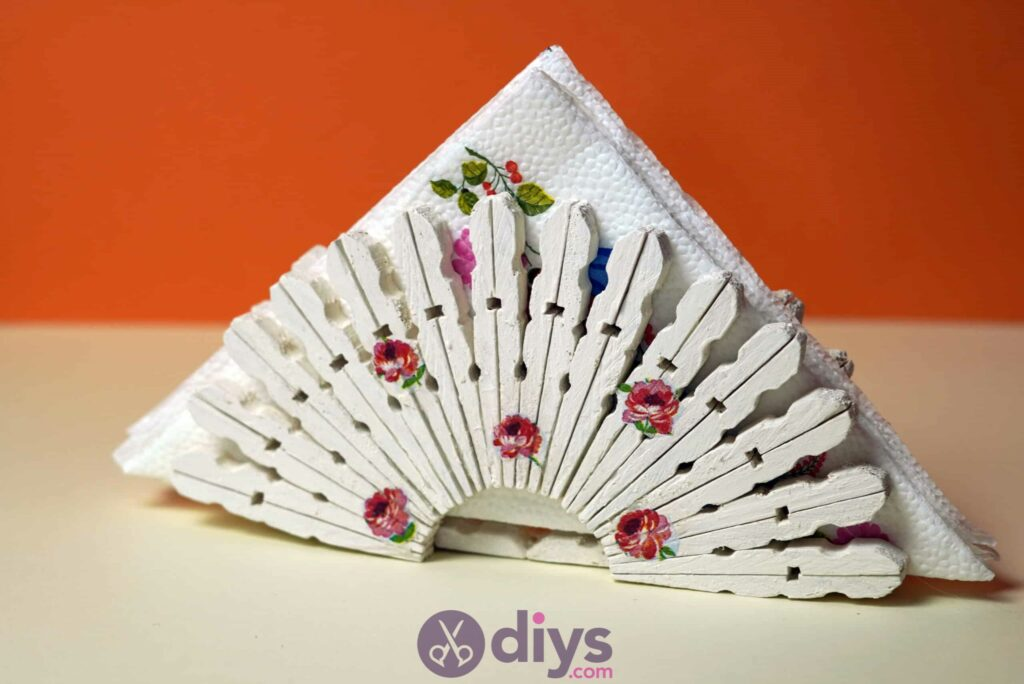 Diy clothespin napkin holder project