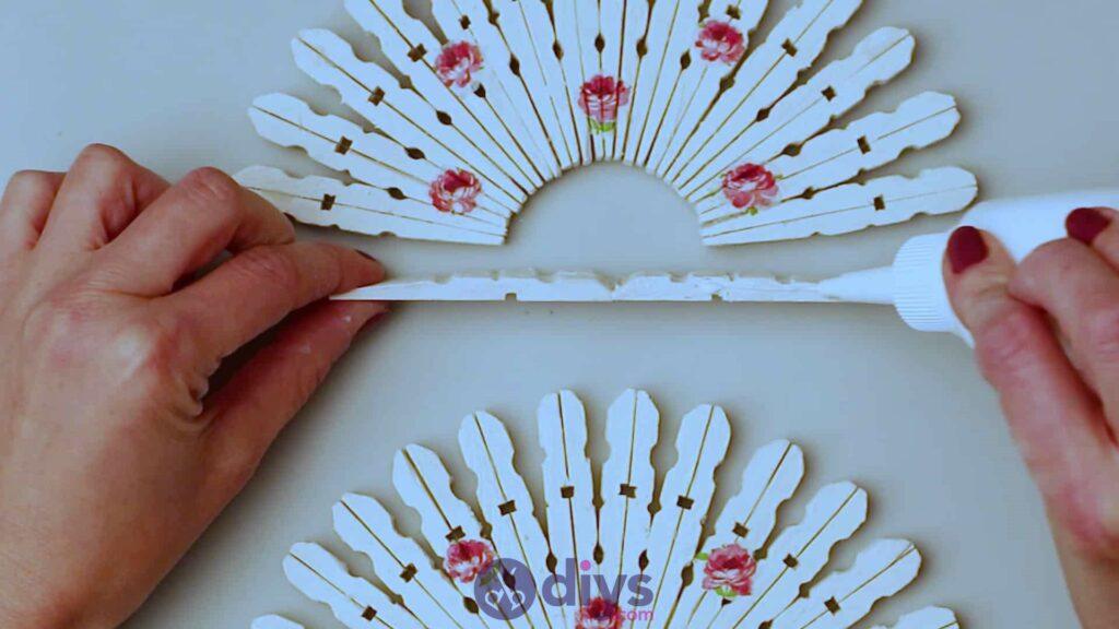 Diy clothespin napkin holder step 11