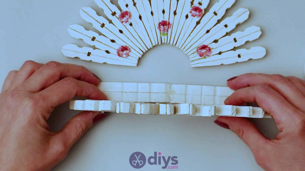 Diy clothespin napkin holder step 11a
