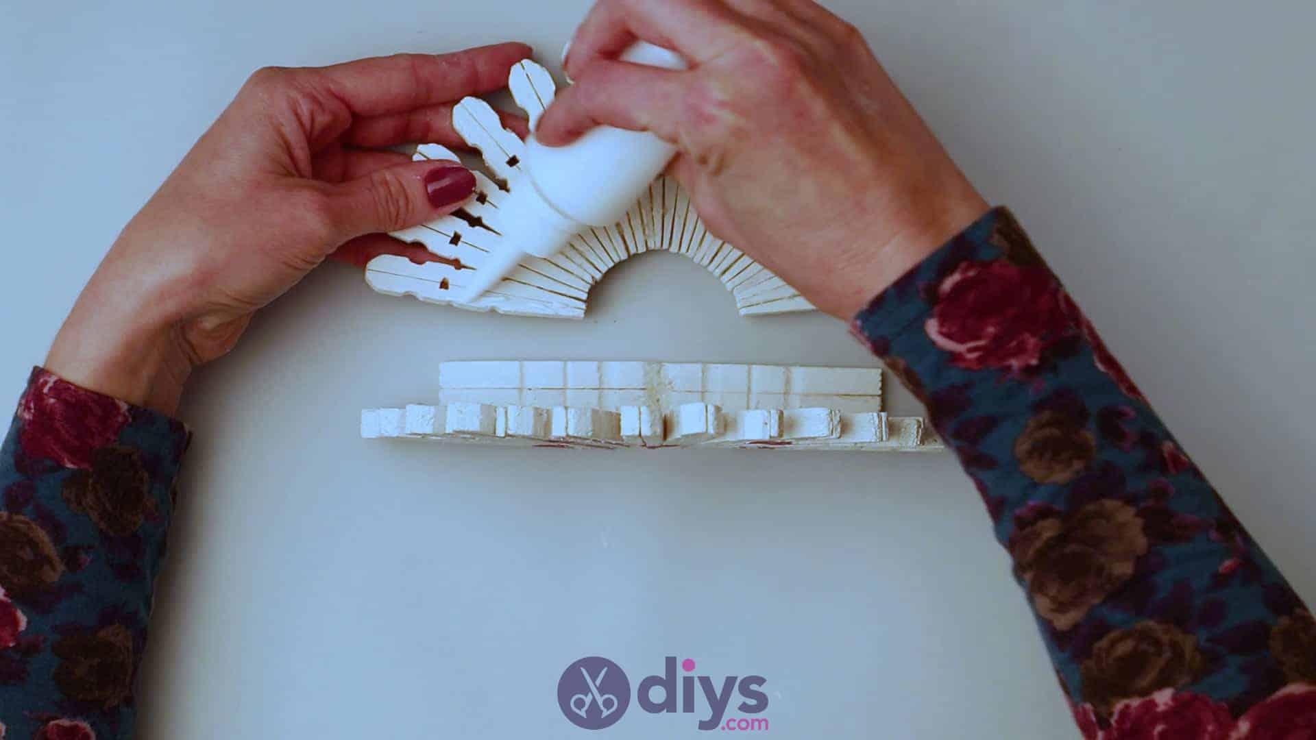 Diy clothespin napkin holder step 11b