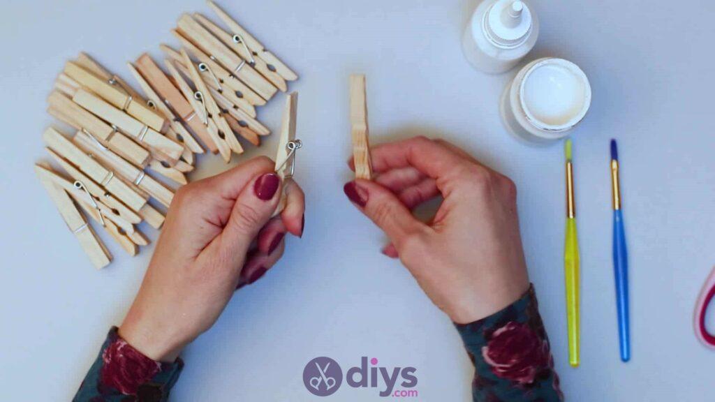 Diy clothespin napkin holder step 2b