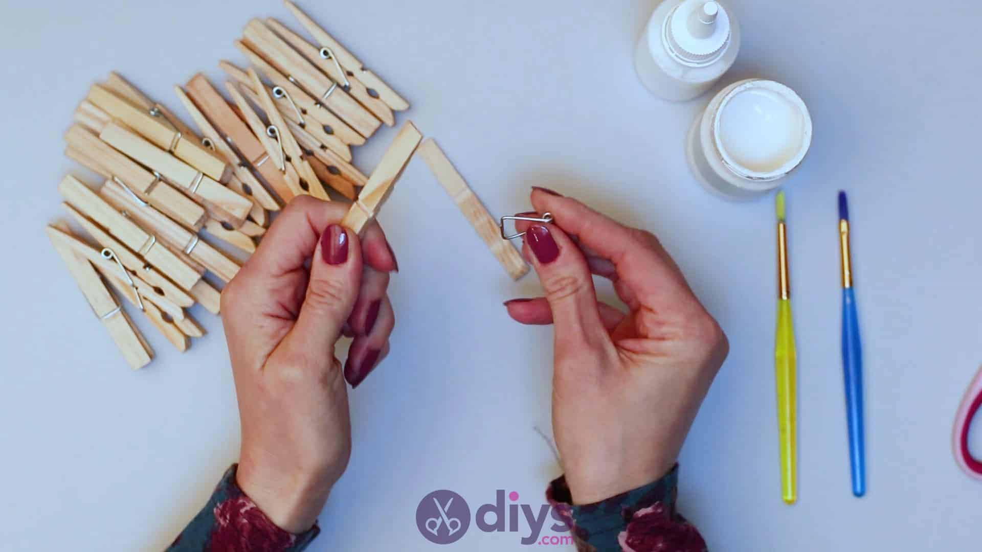 Diy clothespin napkin holder step 2c