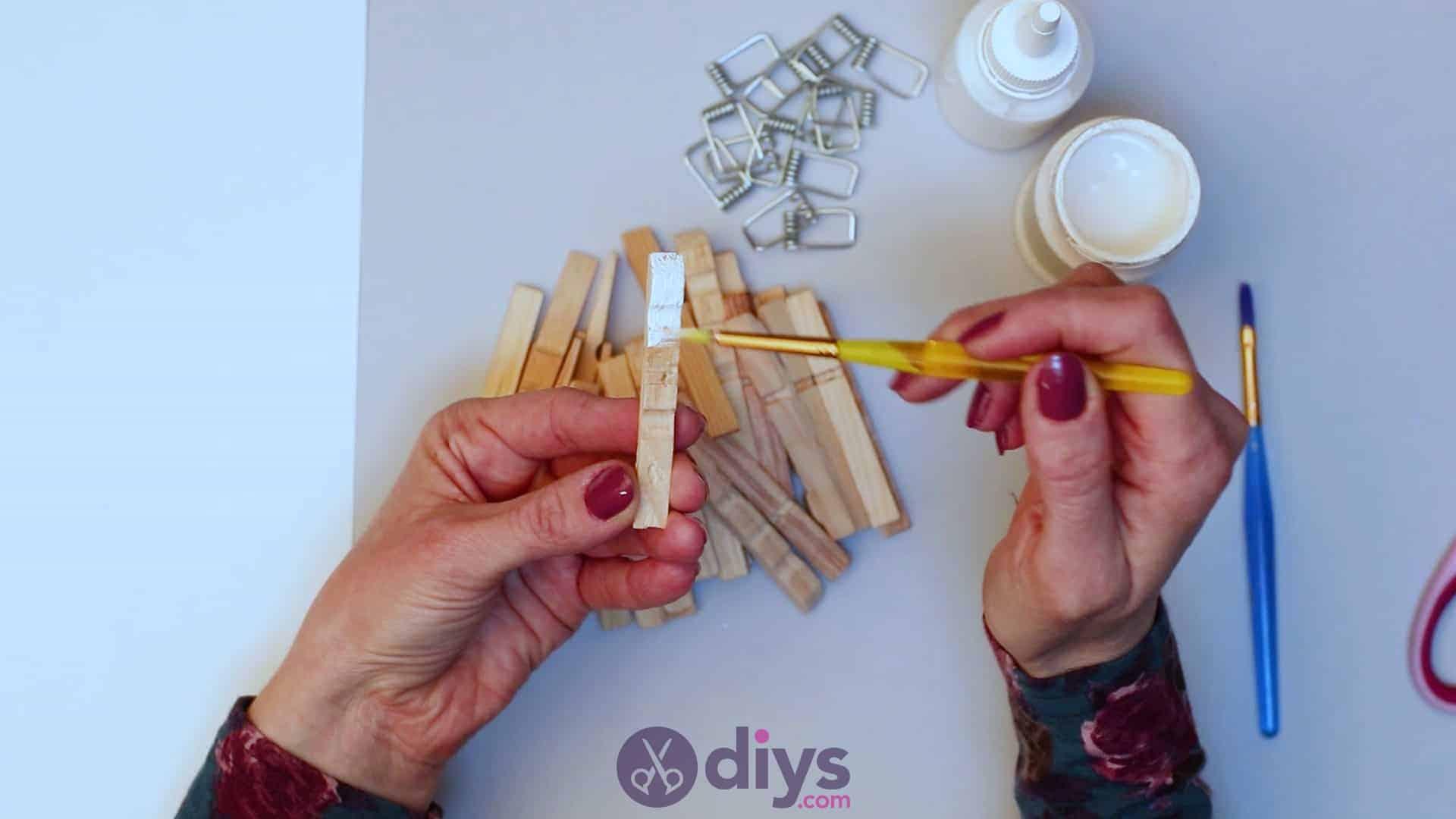Diy clothespin napkin holder step 3a