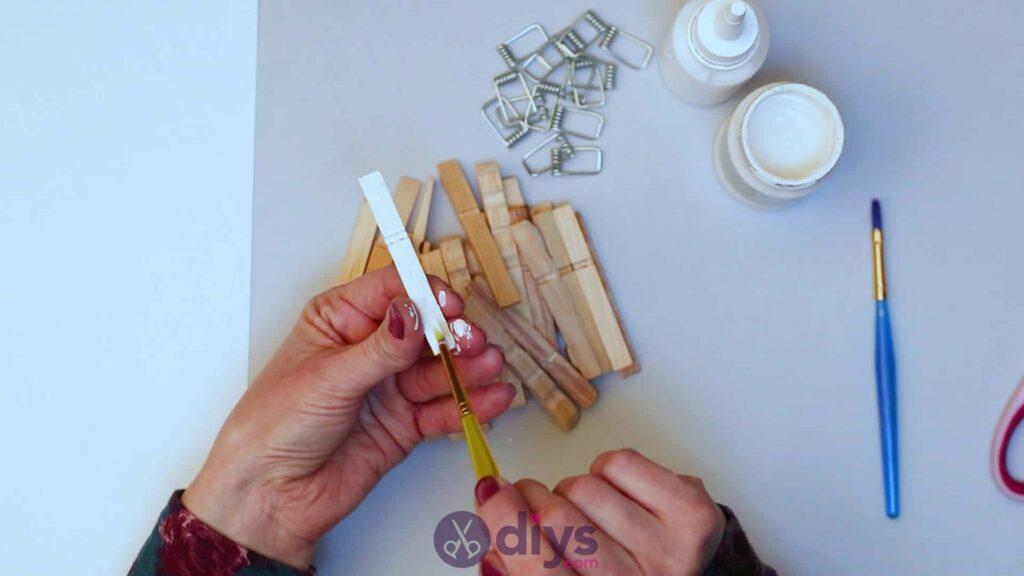 Diy clothespin napkin holder step 3e
