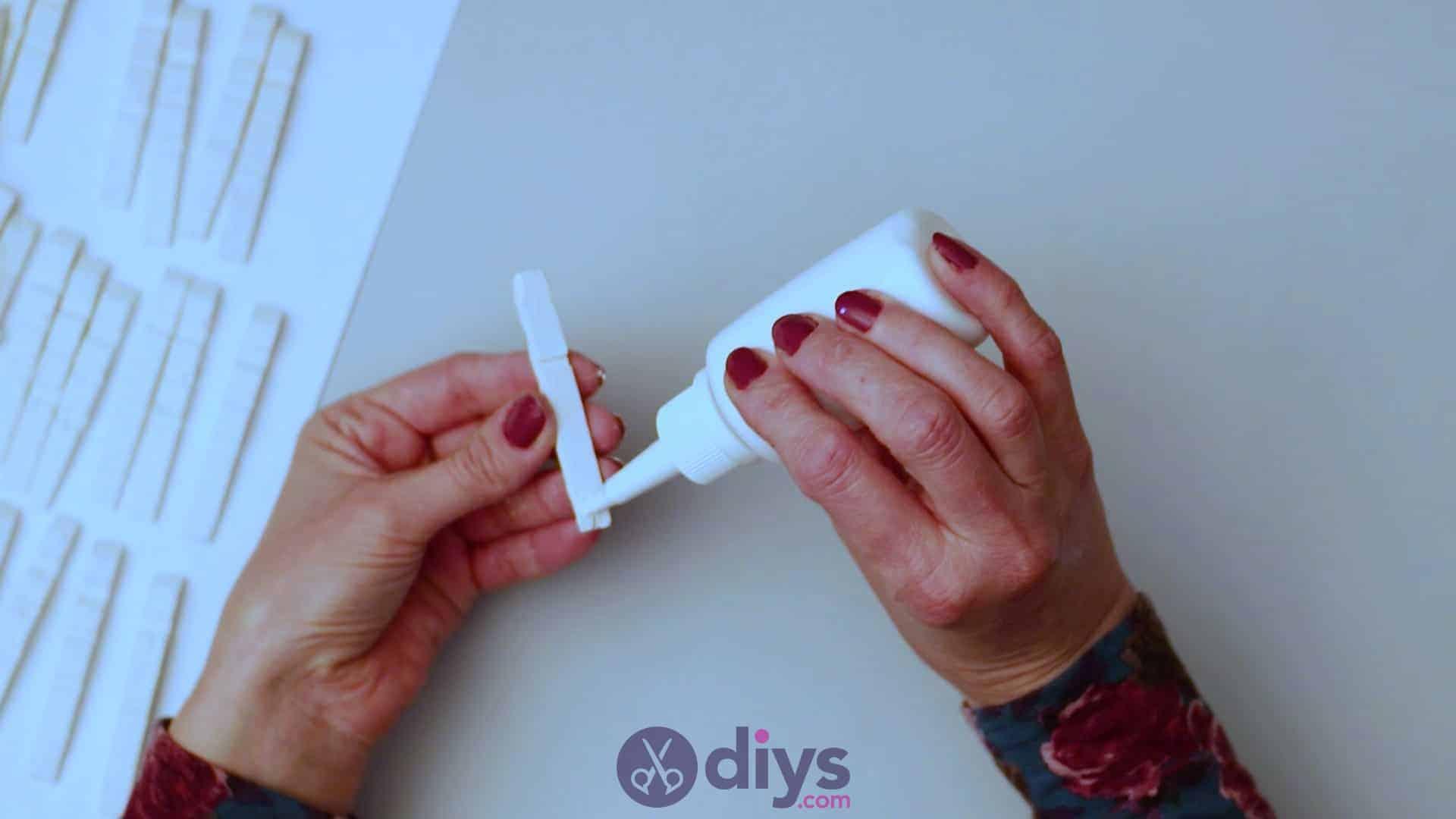 Diy clothespin napkin holder step 4