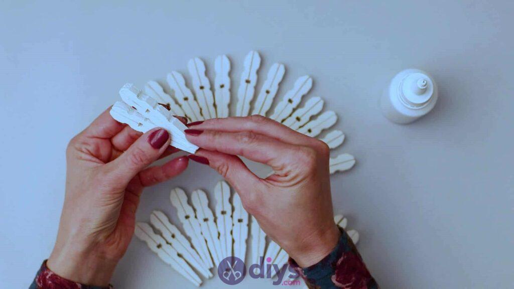 Diy clothespin napkin holder step 5