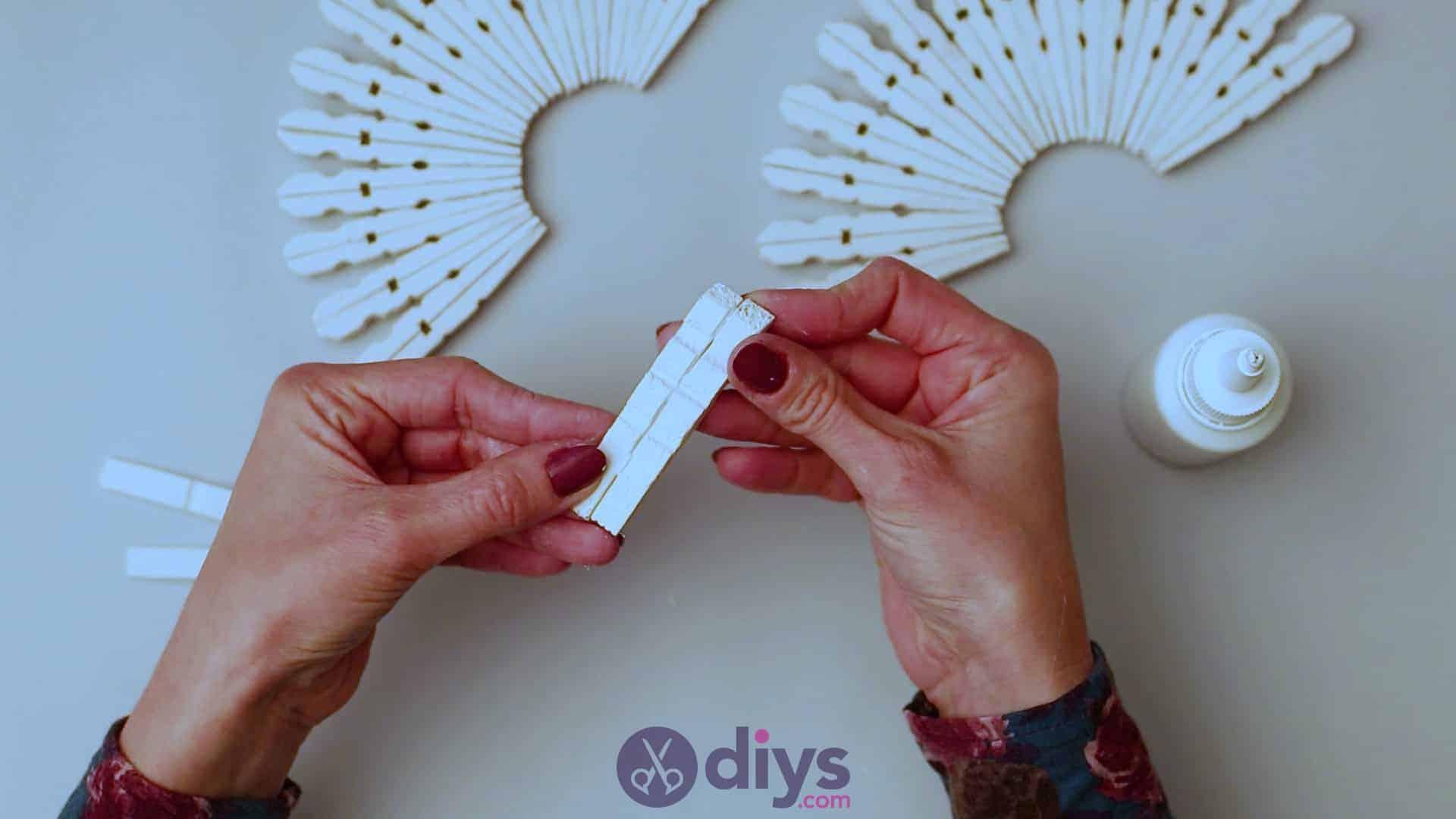 Diy clothespin napkin holder step 6e